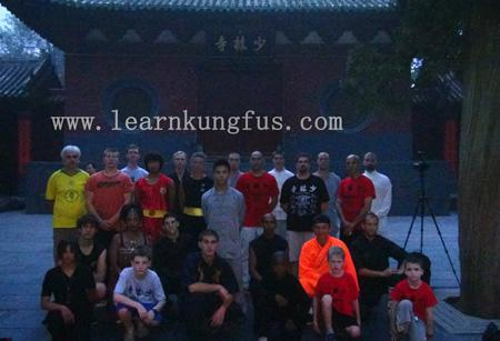 The students & masters at gate of shaolin temple