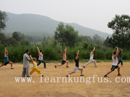 Shaolin training with master