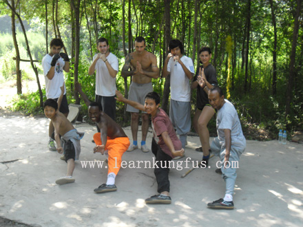 students of shaolin kung fu & Sanda class