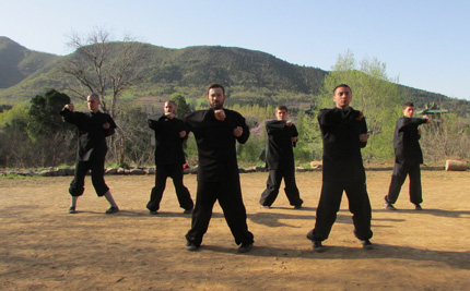 Students study wingchun
