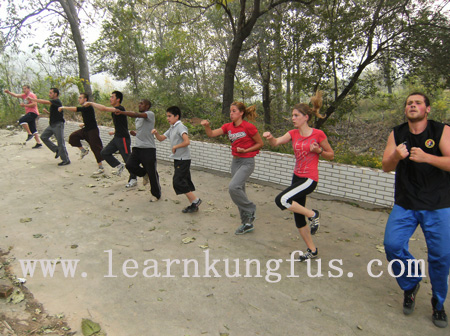 warm up before shaolin kung fu class