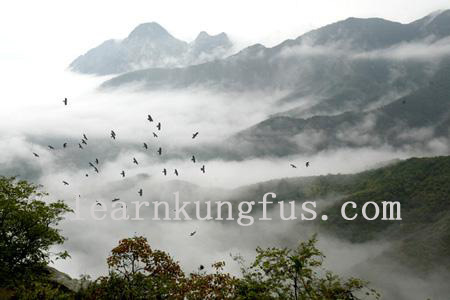 beautiful scenery in Song shan mountain.